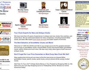 Clock Retailer Website