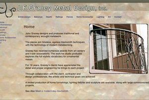 Southern Berkshires Metal Design Company Website Project