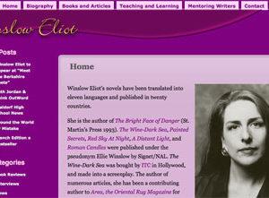 Romantic Suspense Author Website