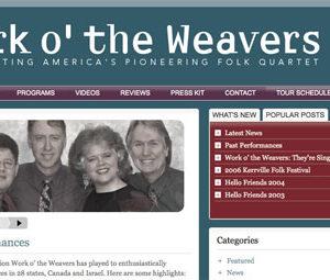 Website For Folk Legend Tribute Band