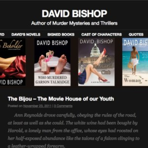 Thriller Author Website Project