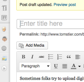 I Can't Add an Image to my WordPress Post